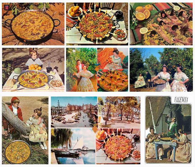 Valencia, paella, postales,
