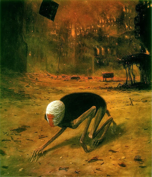 Zdzisław Beksiński, Macabre Art, Macabre Paintings, Horror Paintings, Freak Art, Freak Paintings, Horror Picture, Terror Pictures
