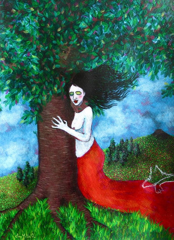 Её картины-мечты - её личный мир