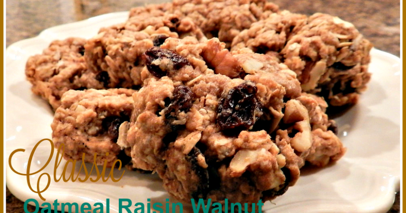 Ducks 'n a Row: Classic Oatmeal Raisin Walnut Cookies