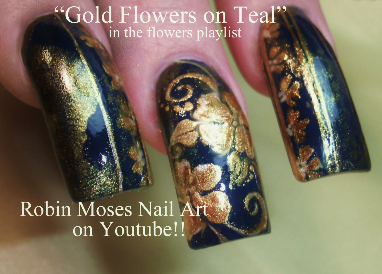 Nail Art by Robin Moses: Pink Floral Diva Nails up today! See lots ...