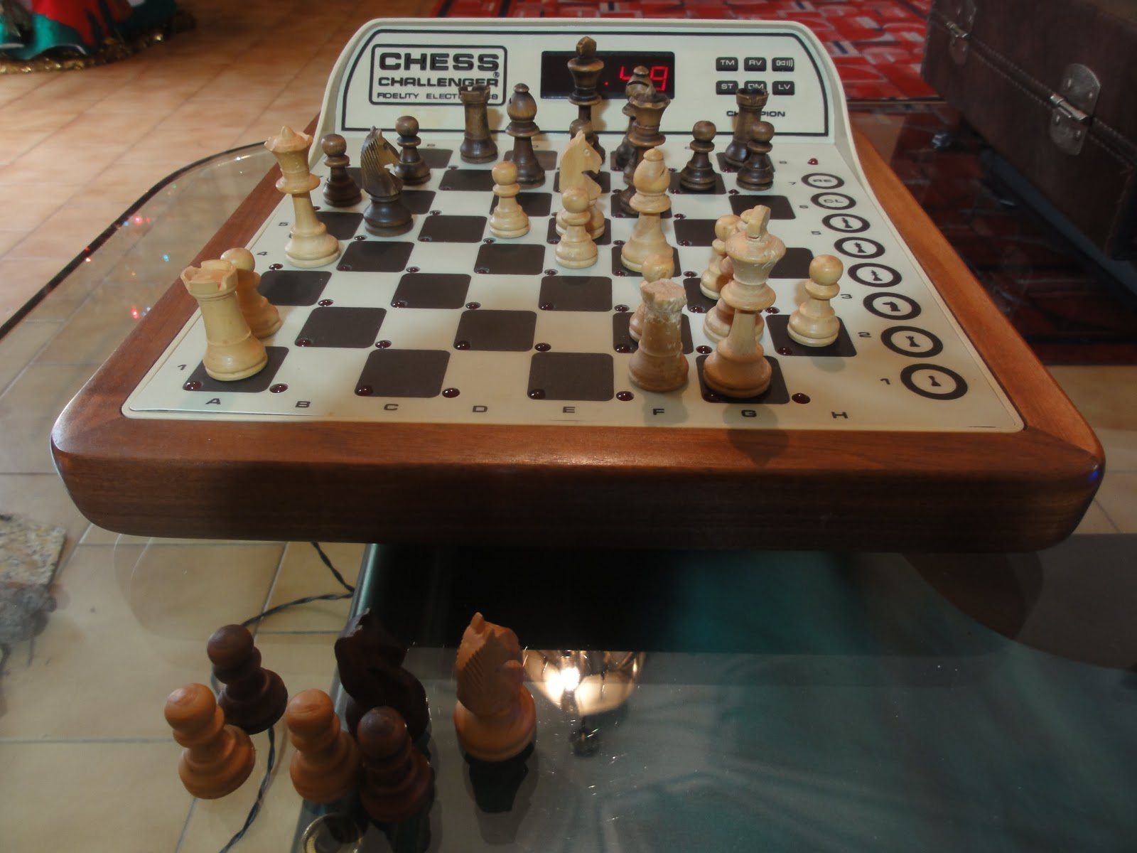 Milady and my dedicated chess computers: Chess Challenger