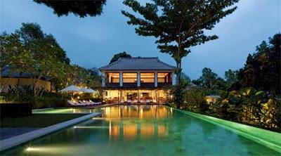 diseño de piscina Resort de lujo en Bali Indonesia.