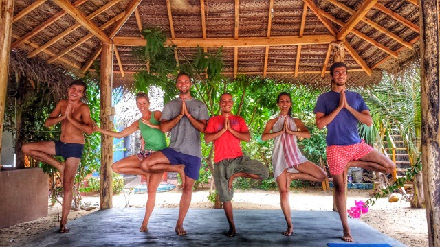 Teaching Yoga in Arugam Bay, Sri Lanka