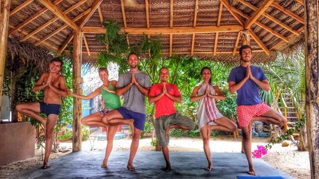 Teaching Yoga in Arugam Bay, Sri Lanka