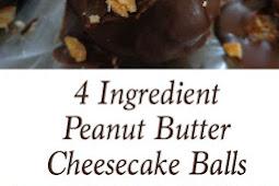 4 Ingredient Peanut Butter Cheesecake Balls
