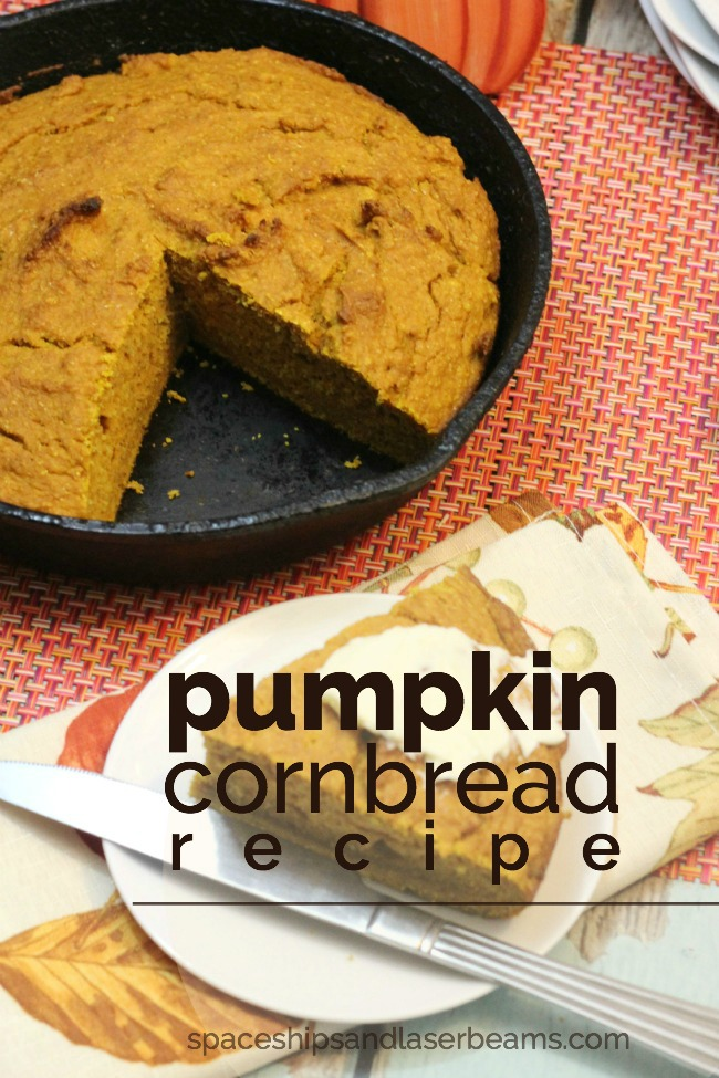 Cast Iron Pumpkin Cornbread