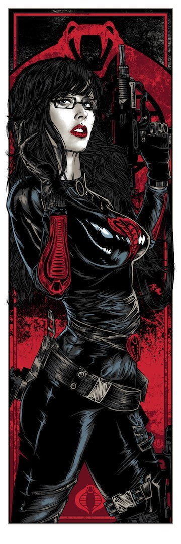 The Baroness Standard Edition G.I. Joe Screen Print by Rhys Cooper