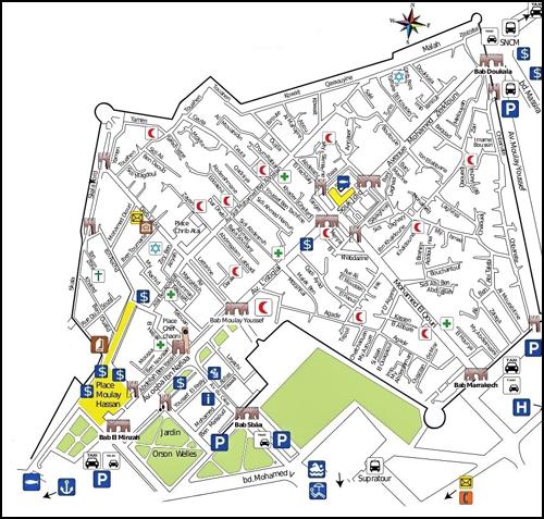Plan de la médina d'Essaouira