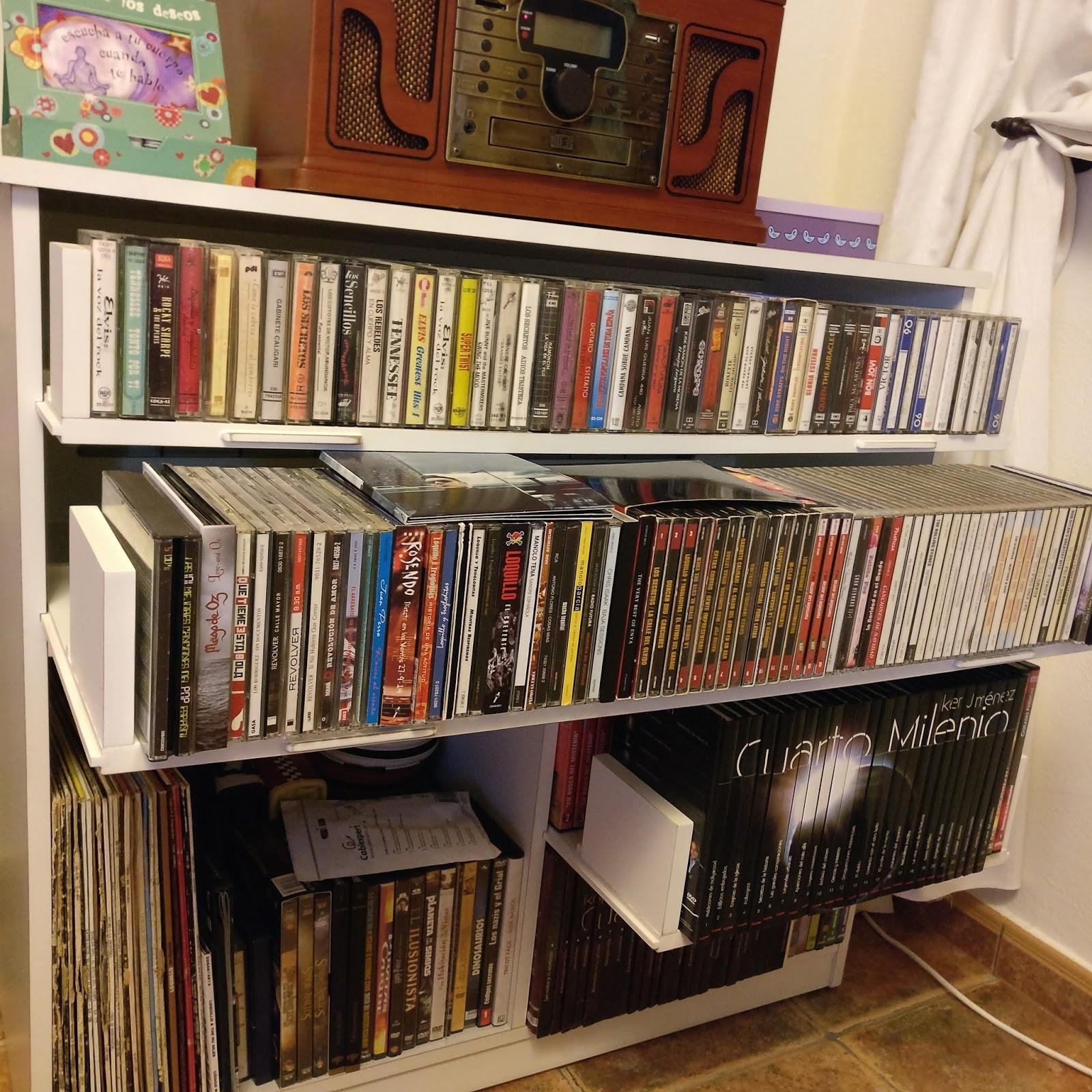 El rincon del mueble mueble para vinilos cd cassete y dvd - Vinilos para muebles ...