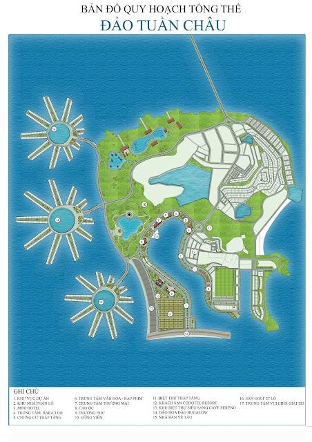 Bản đồ quy hoạch đảo Tuần Châu