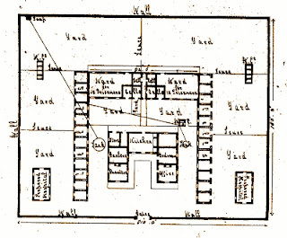 Plan of Rockhampton Gaol, scene of executions in Queensland.