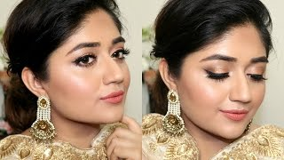 Indian Festive Makeup Tutorial : Golden Peach Makeup