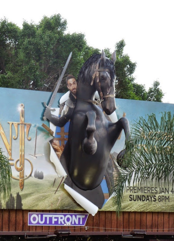 Galavant TV series 3D horse billboard installation