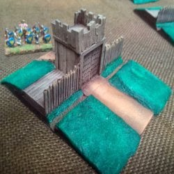 TF232 Roman/Darkage ditch and palisade Gatehouse section.