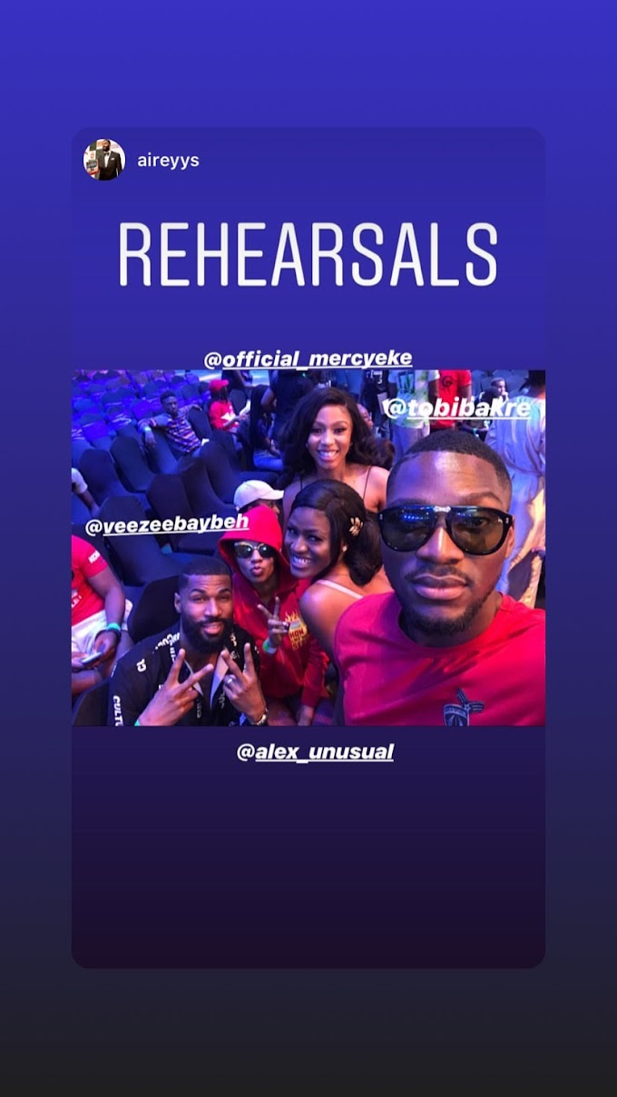 Alex, Mercy, Mike And Tobi Bakre Pictured Hanging out At The Headies 2019