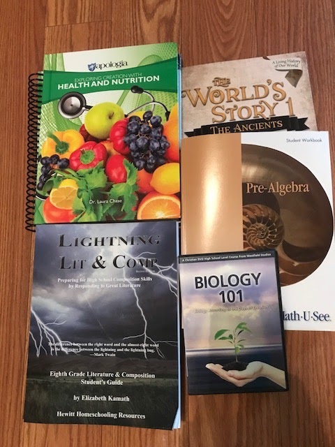 The Happy Homeschool Mom: 9th Grade Curriculum Choices for