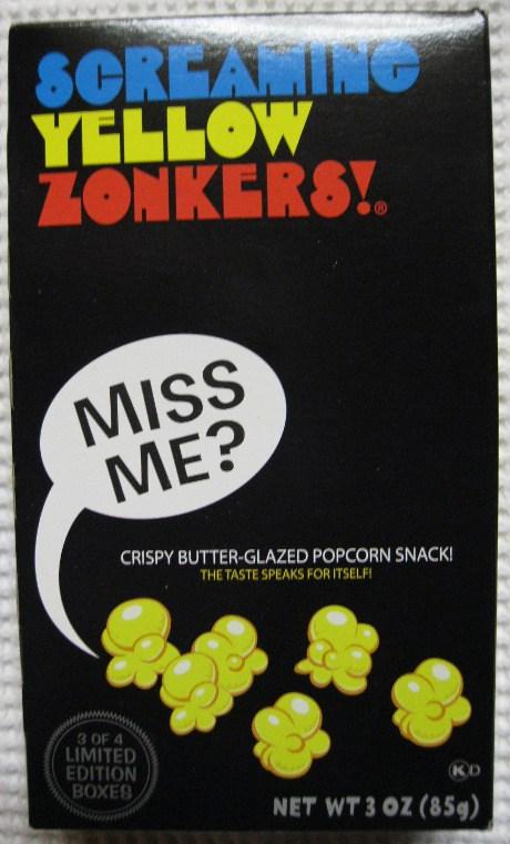 Screaming Yellow Zonkers Crunchy Lightly Glazed Popcorn
