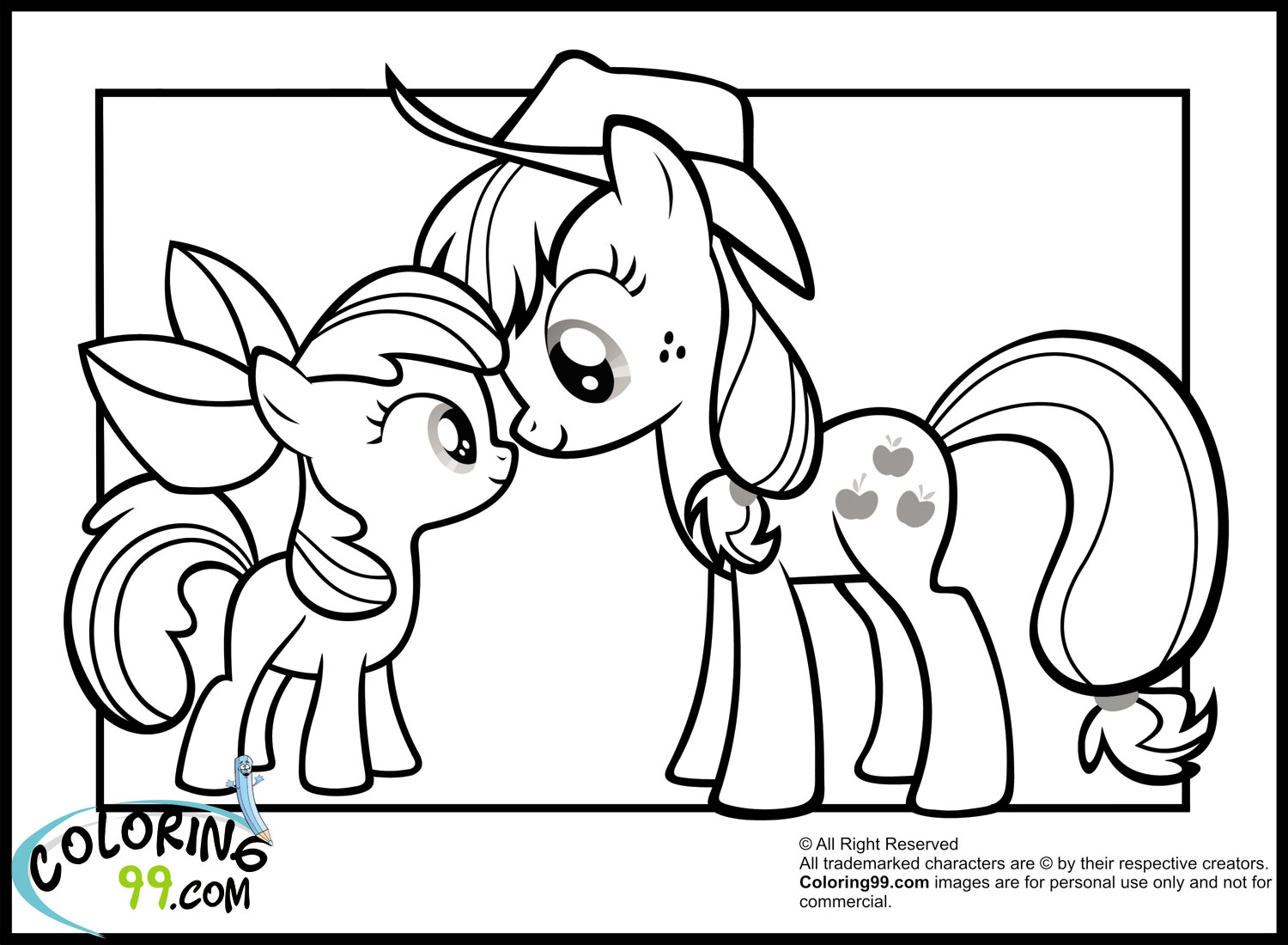 My Little Pony Baby Ponies Coloring Pages