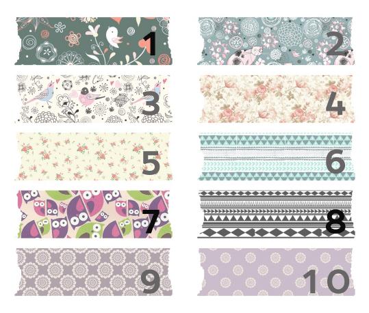 Washi-tape digital estampado bonito para descargar gratis y usar en tu blog como fondo de títulos