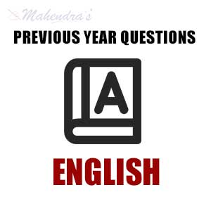 Previous Year English Questions | 12.07.2017