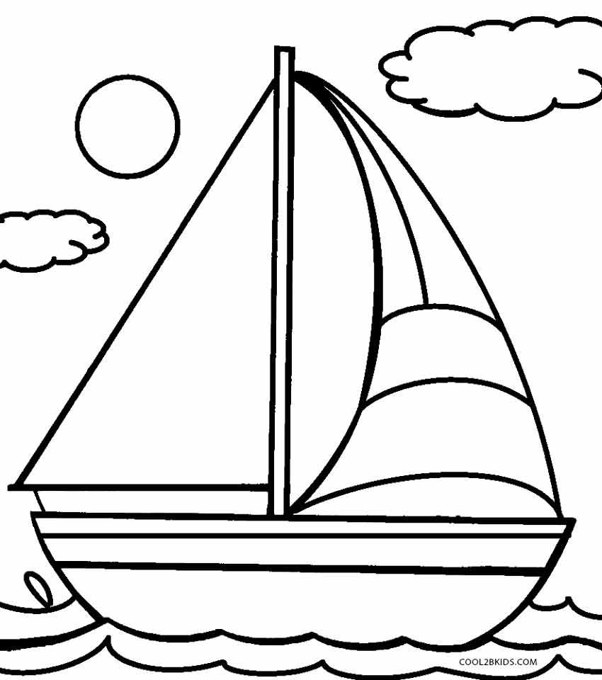Transportation For Kids Coloring Pages Boats Transportation Coloring Pages