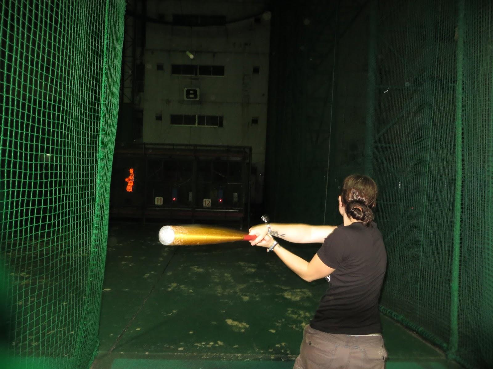 Batting cage in Tokyo, shinjuku, baseball, must do tokyo