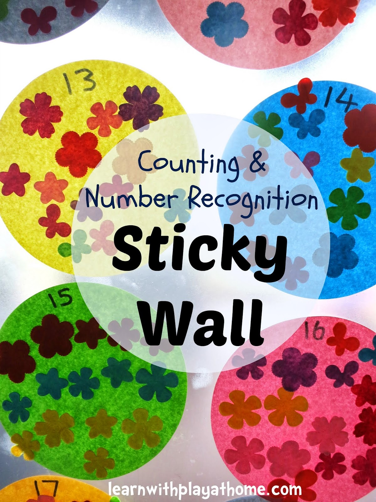 Learn With Play At Home Counting And Number Recognition Sticky Wall Activity