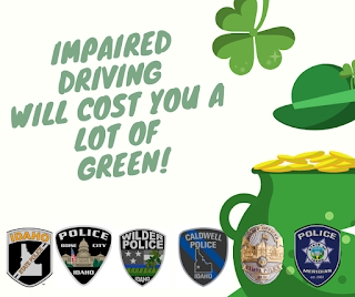 Update with Photo – Treasure Valley DUI Emphasis for St. Patrick's Day