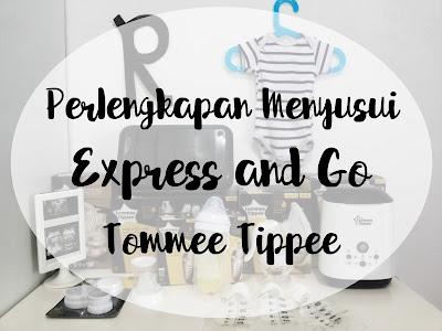 perlengkapan menyusui express and go tommee tippee
