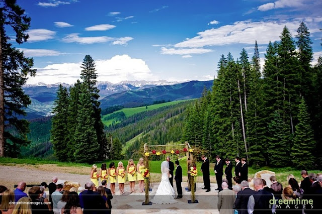 The Oh My Gawd Views From Beaver Creek Wedding Deck