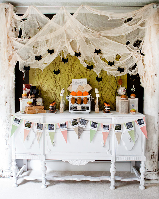More Shabby Chic Halloween Interior Decor Ideas