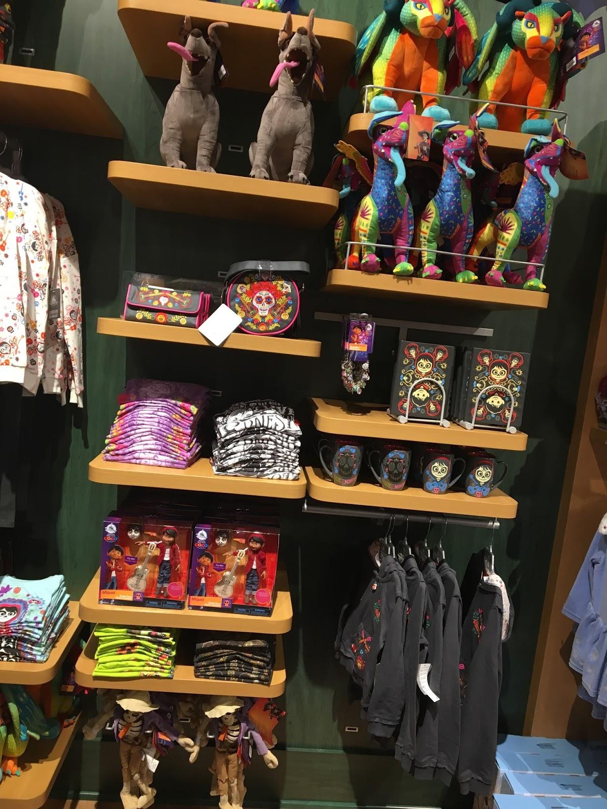 pixar coco disney store merchandise toys in store release