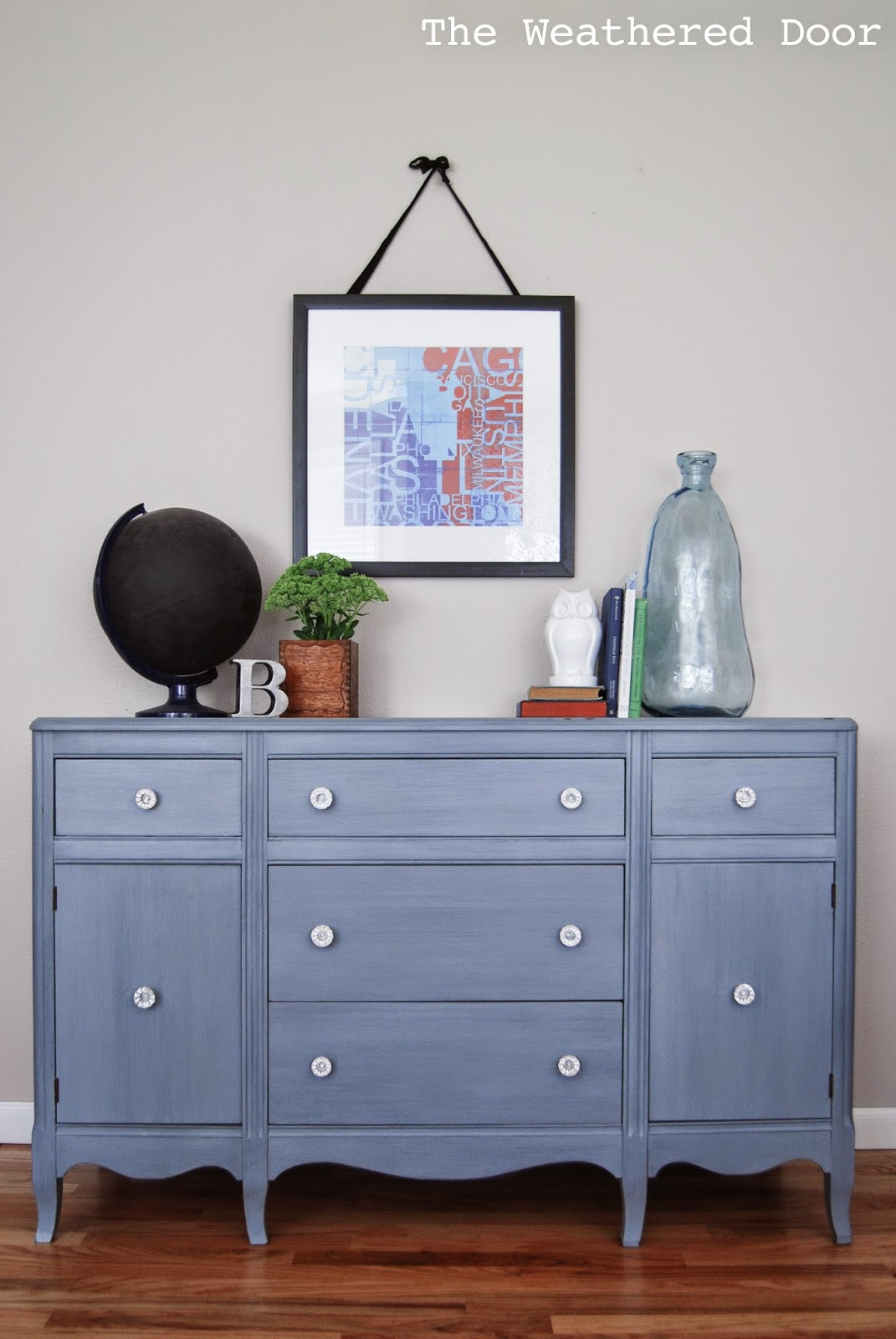 Buffet Sideboard Blue Blue Grey Antique Hepplewhite Buffet Before After The