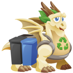 Appearance of Recycling Dragon when teenager