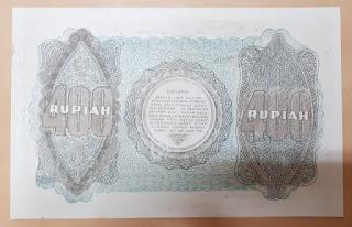 Uang Kuno Indonesia 400 Rupiah Tahun 1948 Soekarno UNC RPH001