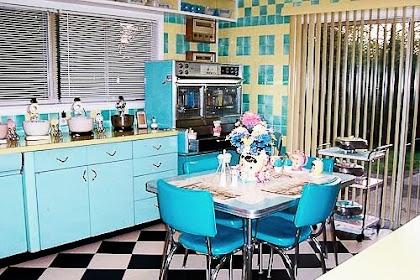 Desain Interior Dapur Minimalis Gaya Retro