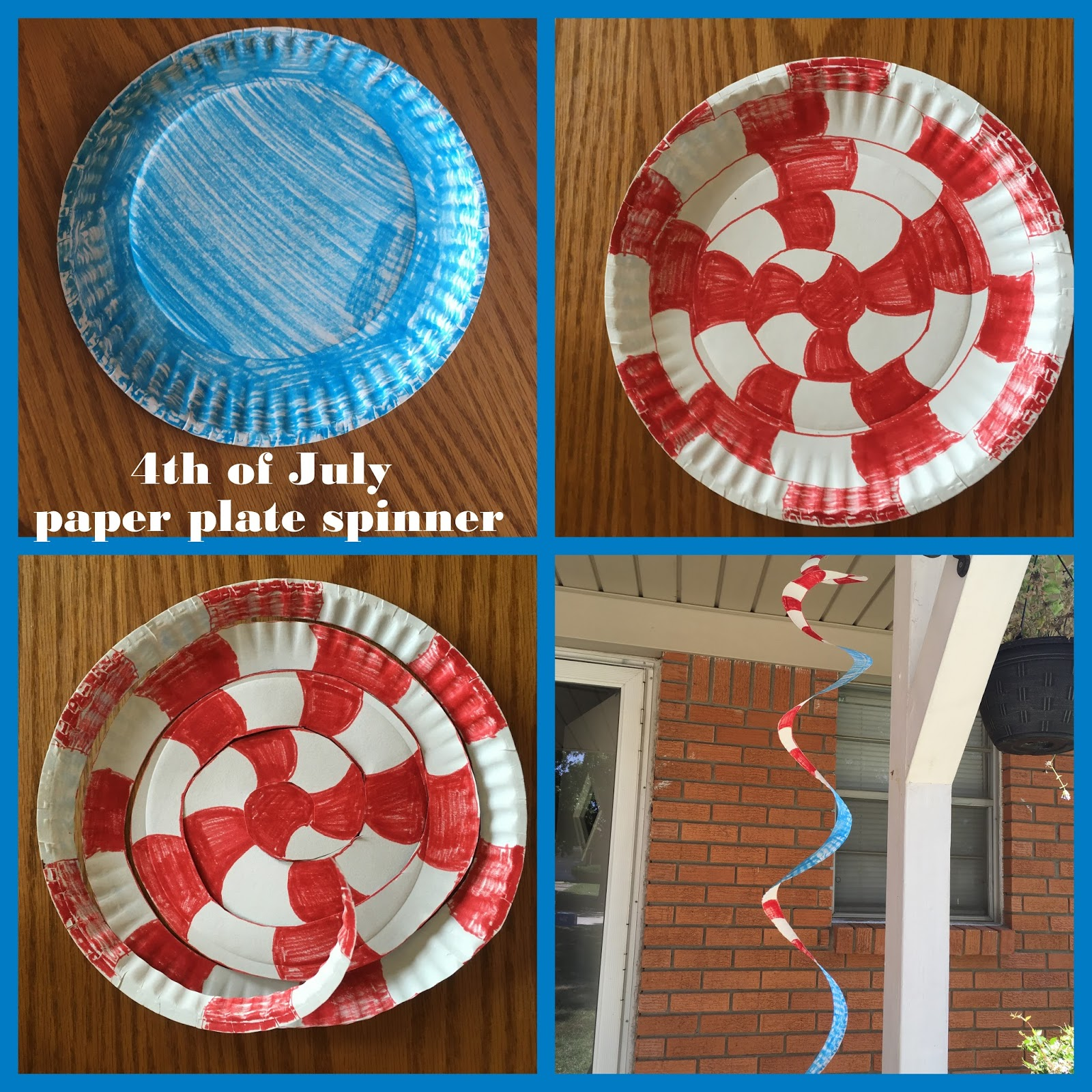 Patriotic Paper Plate Spinners  sc 1 st  What I Live For & What I Live For: Patriotic Paper Plate Spinner