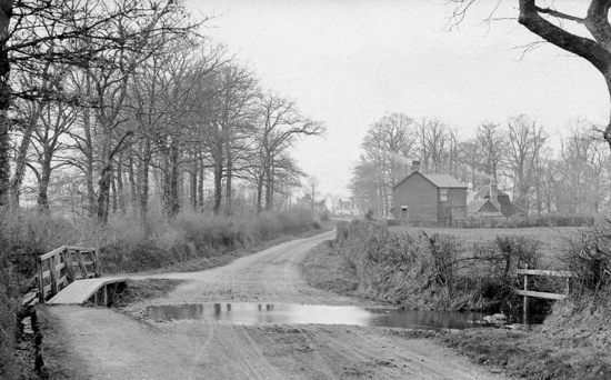 Photograph of The Water Splash looking towards The Sibthorpe Arms 1900s Image by G Knott from Peter Miller's collection