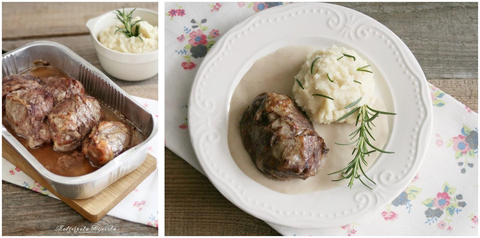 sous vide, mięso wolno gotowane, policzki, daylicooking, wykwintny obiad, szybki obiad, puree, pietruszka, rozmaryn