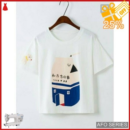 AFO525 Model Fashion Milk Tee Modis Murah BMGShop