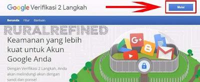 cara verifikasi 2 langkah google