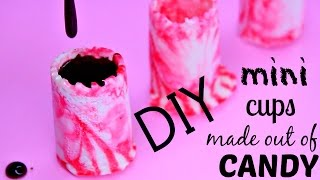 DIY Mini CUPS made of Peppermint Candy! How to Make Edible Drinking Glasses