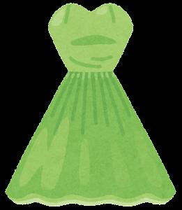 カラードレスのイラスト(緑)