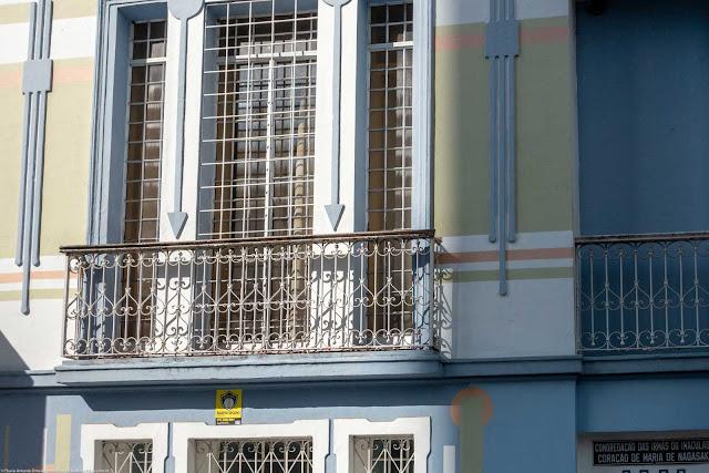 Sede da Congregação da Irmãs do Imaculado Coração de Maria de Nagasaki na Rua Nunes Machado. - detalhe