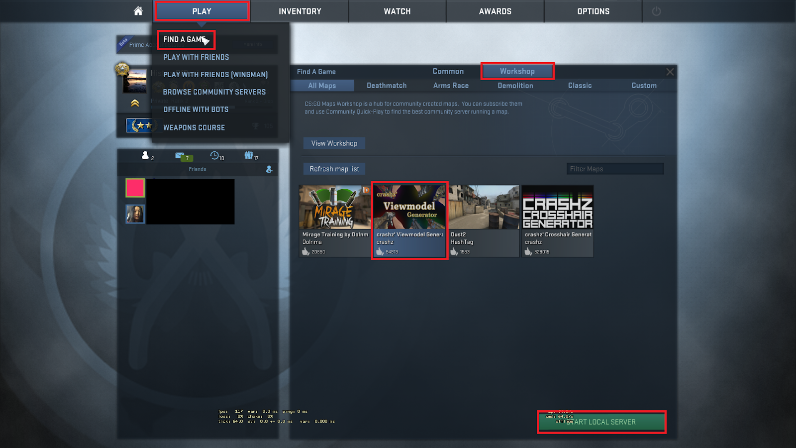 Changing Right Or Left CS:GO With Workshop