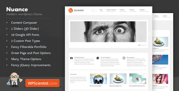 Nuance - Powerful Modern Wordpress Theme Free Download by ThemeForest.
