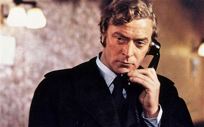 Michael Caine as Jack Carter, talks on telephone, long distance call, Get Carter (1971), Directed by Mike Hodges