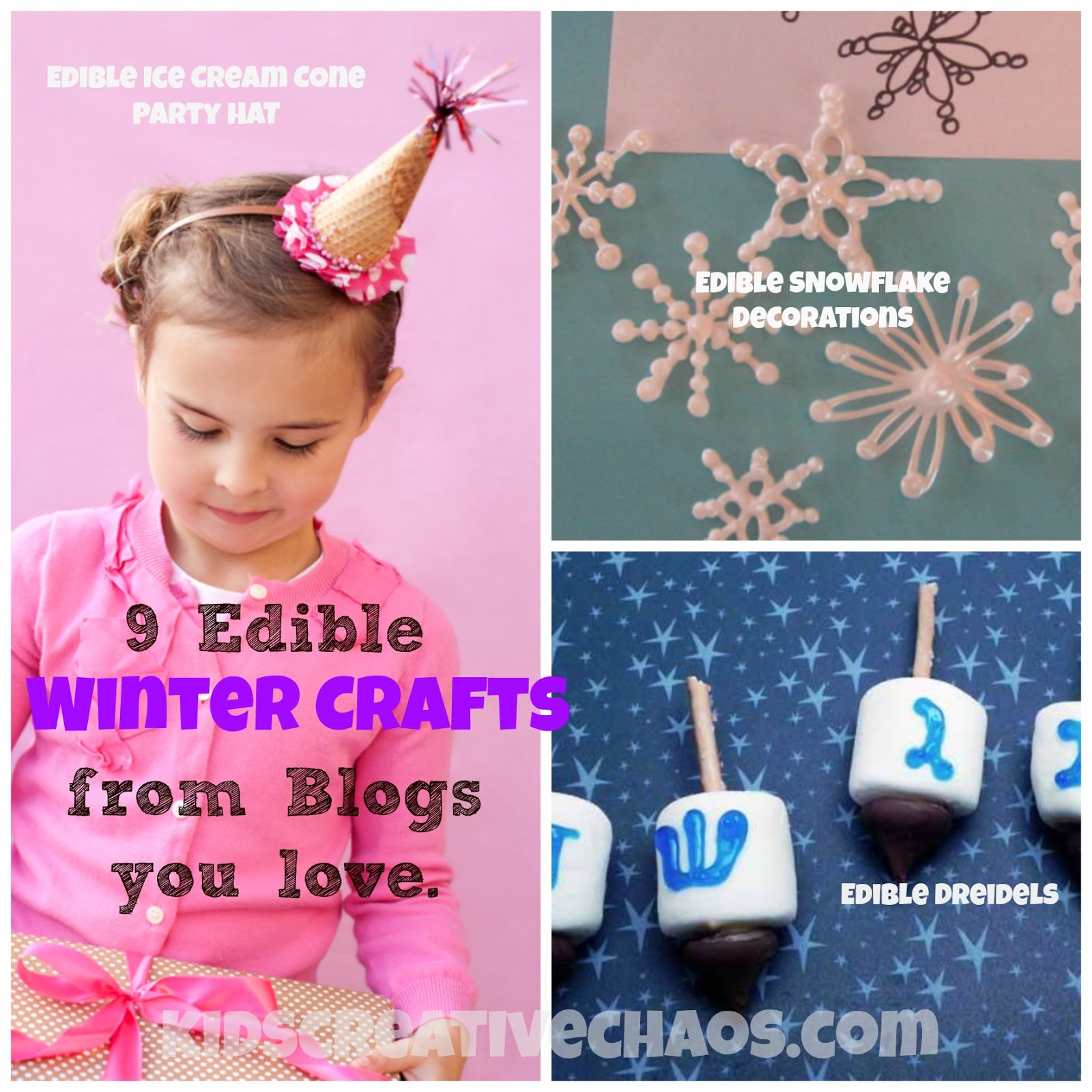 9 Easy Edible Winter Holiday Crafts For Kids Kids Creative Chaos