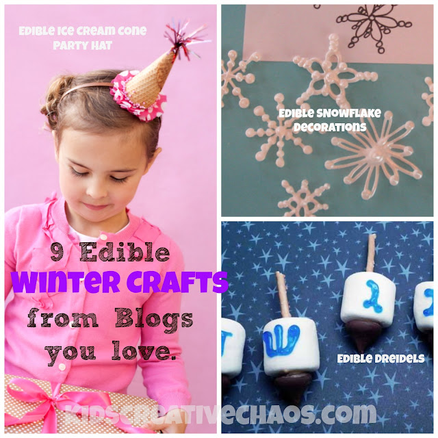 9 Easy Edible Winter Holiday Crafts for Kids